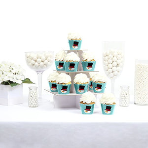 Let It Snow - Snowman - Holiday Party Cupcake Wrappers - Set Of 12