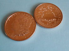 Load image into Gallery viewer, Roll Of Fine Copper (.999) Bullion Rounds Morgan Design Roll Of 20