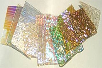 1 Lb Dichromagic Jeweler'S Scrap Dichroic Glass Coe90 Fusible Clear Dc108