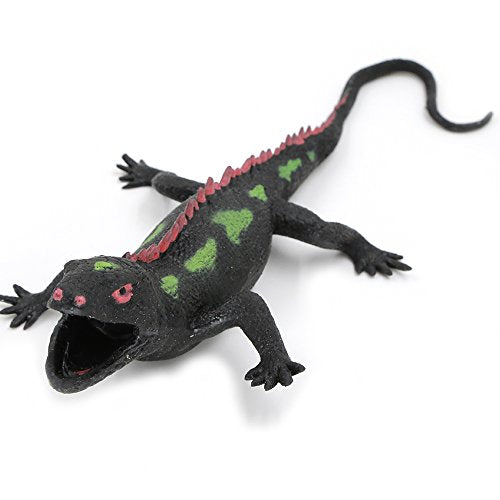 Lizards Toys,Rubber Lizard Figures 9-Inch Replica Model(Iguana),Great Safety Material Tpr Super Stretchy,Zoo World Realistic Lizard Bathtub Squishy Reptile Toys