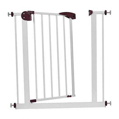 Cocoarm Baby Safety Gate With Door Adjustable Fence For Children Toddlers Kids Pets, Easy Open Extra Tall Thru Gate For Stairs Doorways Play Yard (Brown)