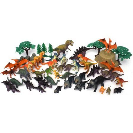 55-Piece Jumbo Dinosaurs Bucket Includes Dinosaurs And Accessories