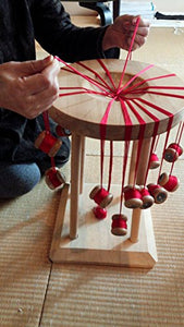 Kumihimo(Small Red) Of Hida(Japanese ).[Your Name.] Sacred Place, The Handicraft Of The Craftsman Of Hida. Prayer [Lucky Charm] In Sacred Place Shrine
