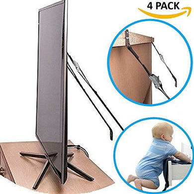Tv And Furniture Anti-Tip Safety Straps, New Non Slip Secure Wall Anchors And All Metal Parts, Best For Child Proofing And Baby Care, Hardware Included