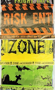 Halloween Fright Tapes, 30 Feet Each One, 3 Different Designs