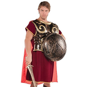 Gracious Gods And Goddess Spartan Shield Party Accessory, Bronze, Plastic , 18