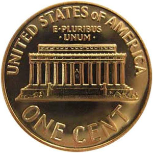 1969 S Gem Proof Lincoln Memorial Cent Us Coin Penny