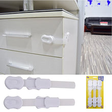 Load image into Gallery viewer, Tzcare Baby Safety Lock | No Tools | Baby &Amp; Child Proof Drawers, Cabinets, Oven, Toilet Seat, And More | Multi-Purpose Use | No Drilling Needed | Super Strong 3M Adhesive (White)