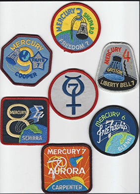 Original Nasa Space Program Official Mercury Patch Set John Glenn Made In Usa