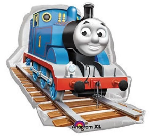 Loonballoon Thomas The Tank Train Engine Track 36 Large Figure Mylar Foil Party Balloon