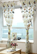 Load image into Gallery viewer, Alifish 1 Panel Dandelion And Butterfly Pattern Window Treatment Sheer Curtains Rod Pocket Tulle Curtains For Living Room W75 X L84 Inch