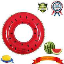 Load image into Gallery viewer, Fruit Style Watermelon Painting Adult / Child Thicken Pvc Swimming Ring Floating Rings Kids Inflatable Swiming Laps,1 Pcs 32 Inches For 8-15 Years Baby