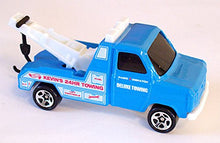 Load image into Gallery viewer, Ford Transit Wrecker Hot Wheels Blue Tow Truck 1:64 Scale Collectible Die Cast Car #620
