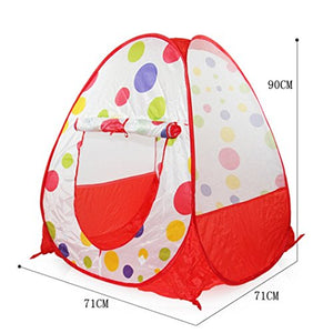 Leegor 71Cm71Cm90Cm Pop Up Hexagon Polka Dot Children Ball Play Tent Play House Carry Tote Toy Birthday Present