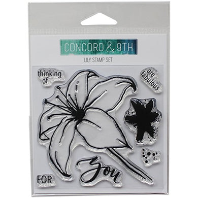 Concord & 9Th Clear Stamps 4 X4 -Lily