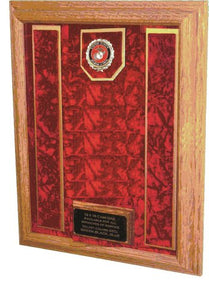 Military Medal And Award Display Case - Shadow Box - 12X16 (Red/Usmc Ega)