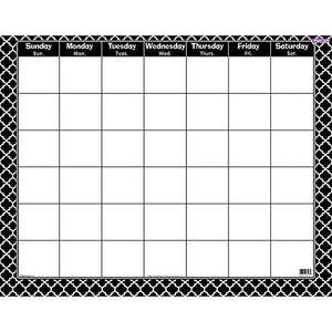 Trend Enterprises Moroccan Wipe-Off Calendar (1 Piece), 22  X 28 , Black