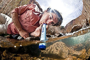 Survival Personal Water Filter (Set Of 4) For Camping, Hiking, Backpacking, And Prepping. Portable Purifier Is Bpa Free And Lightweight. Filtration System Lifestraw Personal Water Filter