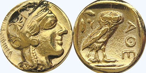 Greek Mythology, Athena And Her Owl Coin, Goddess Of Wisdom, Mark Of Athena (#77-G)