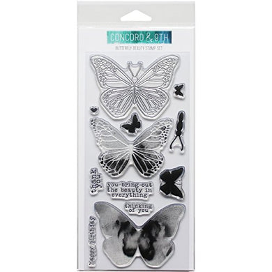 Concord & 9Th Clear Stamps 4 X8 -Butterfly