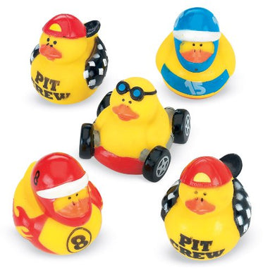Race Car Rubber Duckies - 12 Per Pack