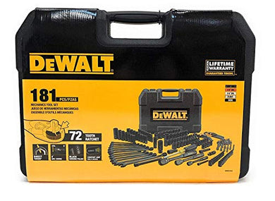 Dewalt Dwmt81522 Mechanics Tool Set, Black Chrome Polish, 181 Pieces