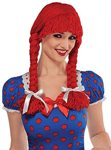 Braided Rag Doll Wig Costume Accessory