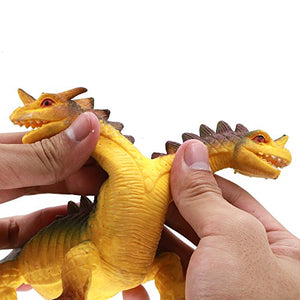 Dinosaur Toy,8 Food Grade Material Tpr Super Stretches Zoo World Rubber Dinosaur Dragon Toys(Fire Dragon)