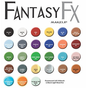 Mehron Makeup Fantasy F/X Water Based Face & Body Paint, Fluorescent Orange 1Oz Carded