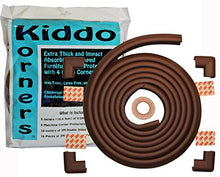 Load image into Gallery viewer, Child Safety Foam Edge Protectors And 4 Corner Bumpers Guards (Extra Long- 5 Meters (16.4 Feet)) Plus 4 Pre-Made Corners - Childproof Your Tables, Furniture, Countertops, Hearths With Extra Thick, Non-Toxic Edging Material (Coffee Brown)