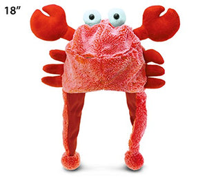 Puzzled Red Crab Child'S Super Soft Plush Hat