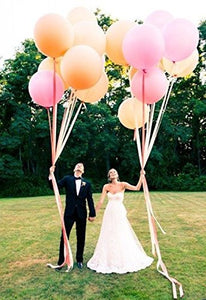 36 Inch Giant Jumbo Latex Balloons (Premium Helium Quality), Regular Shape - Fuchsia