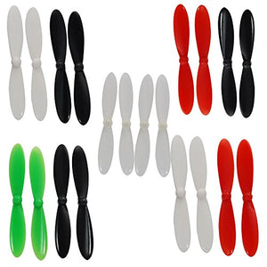 Hubsan X4 H107C Quadcopter Crash Pack Shell Blades Ruber Feet Propeller Propector And Wrench Set (Black And Red Color)
