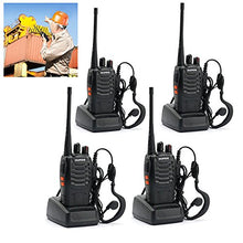 Load image into Gallery viewer, Baofeng Bf-888S Portable Handheld 2-Way Ham Radio With Original Earpieces + Baofeng Programming Cable (Support Win7,64 Bit) -Customize 4Pack Package
