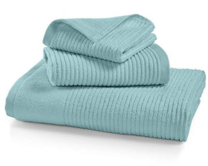 Martha Stewart Collection Quick Dry Reversible Towel Collection (Aqua Glass)