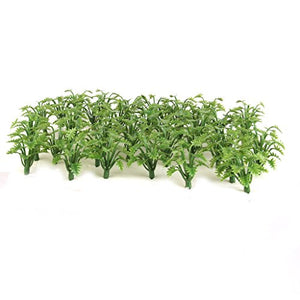 Jili Online 100Pcs Grass Bushes Model Railroad Wargame Train Diorama Scenery 3.3-4.5Cm