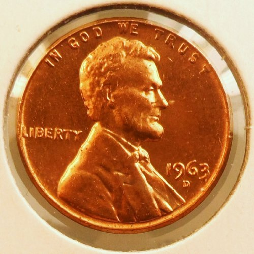 (1) 1963 D Lincoln Memorial Cent (Uncirculated)