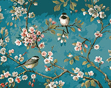 Load image into Gallery viewer, [Wooden Frame]Diy Oil Painting Paint By Number Kit-Like Birds In The Branches 1620 Inch