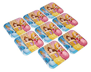 American Greetings Disney Princess Square Party Plate (8 Count), 9