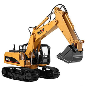 Cr 15 Channel 2.4G Rc Alloy Crawler Excavator Electric Remote Control Full Functional Construction Digger Tractor Vehicle(With Lights And Sounds)