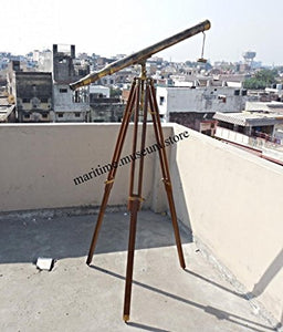 40'' Superb Power Coated Optics And Clarity Brass Stand Telescope/Brass Spyglass. C-3214