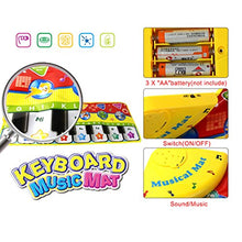 Load image into Gallery viewer, Coolplay Piano Keyboard Play Mat, Learn Singing Gym Carpet Touch Play Mats For Kids Baby,28X 11 Inches