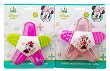 Load image into Gallery viewer, Minnie Mouse Water-Filled Teether , 1 Minnie Mouse Spill-Proof Cup. Plus Free Bonus  Disposable Baby Bib.