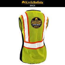 Load image into Gallery viewer, Kwiksafety (Charlotte, Nc) First Lady Safety Vest For Women | Class 2 Ansi Osha Ppe | High Visibility Heavy Duty Mesh Pockets Zipper | Hi-Vis Construction Work Hi-Vis Surveyor Female | Yellow Small
