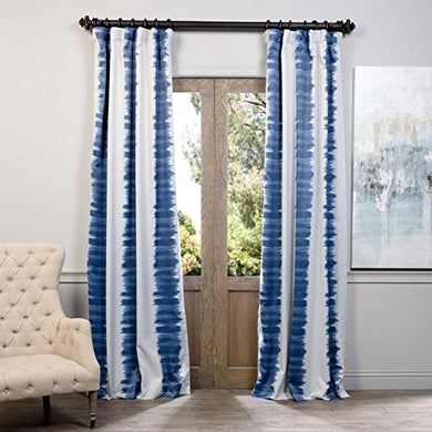 Half Price Drapes Boch-Kc101A-96 Blackout Curtain, Flambe Blue
