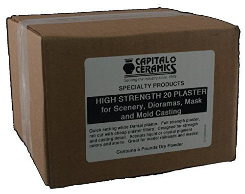 High Strength 20 Plaster For Scenery, Dioramas, Dentistry And Mold Casting 5 Lb Pack Resealable Bag Great For Model Railroads & Gaming