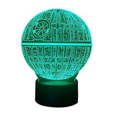 7 Color Changing Night Lamp 3D Atmosphere Bulbing Light 3D Visual Illusion Led Lamp For Kids Toy Christmas Birthday Gifts (Star Wars)