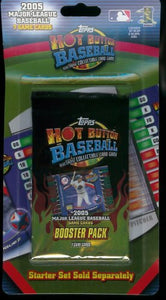 2005 Topps Hot Button Baseball Card Booster Pack
