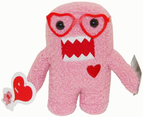 Licensed 2 Play Domo 6 1/2  Plush With Heart Glasses, Pink