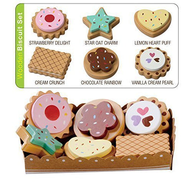 Wooden Cookies With Selection Card And Sturdy Cardboard Serving Tray